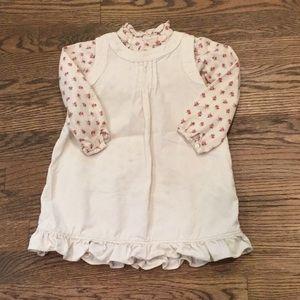 Ralph Lauren corduroy dress with flowered shirt